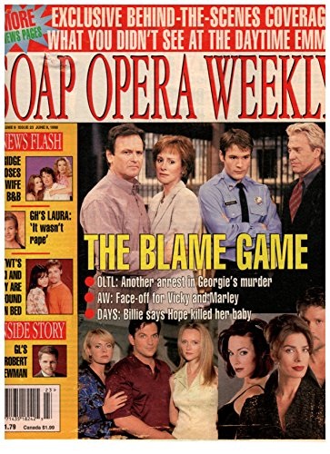Soap Opera Weekly Magazine - June 9, 1998 - Robert S. Woods, Hillary B. Smith, Samuel Ball & Kale Browne (One Life to Live)