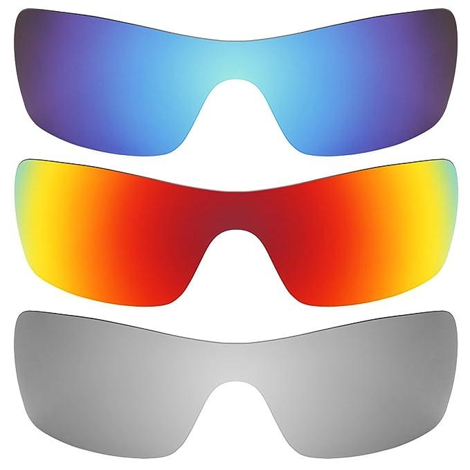 Revant Combo de 3 pares de lentes polarizados, de reemplazo, para Oakley Batwolf K014