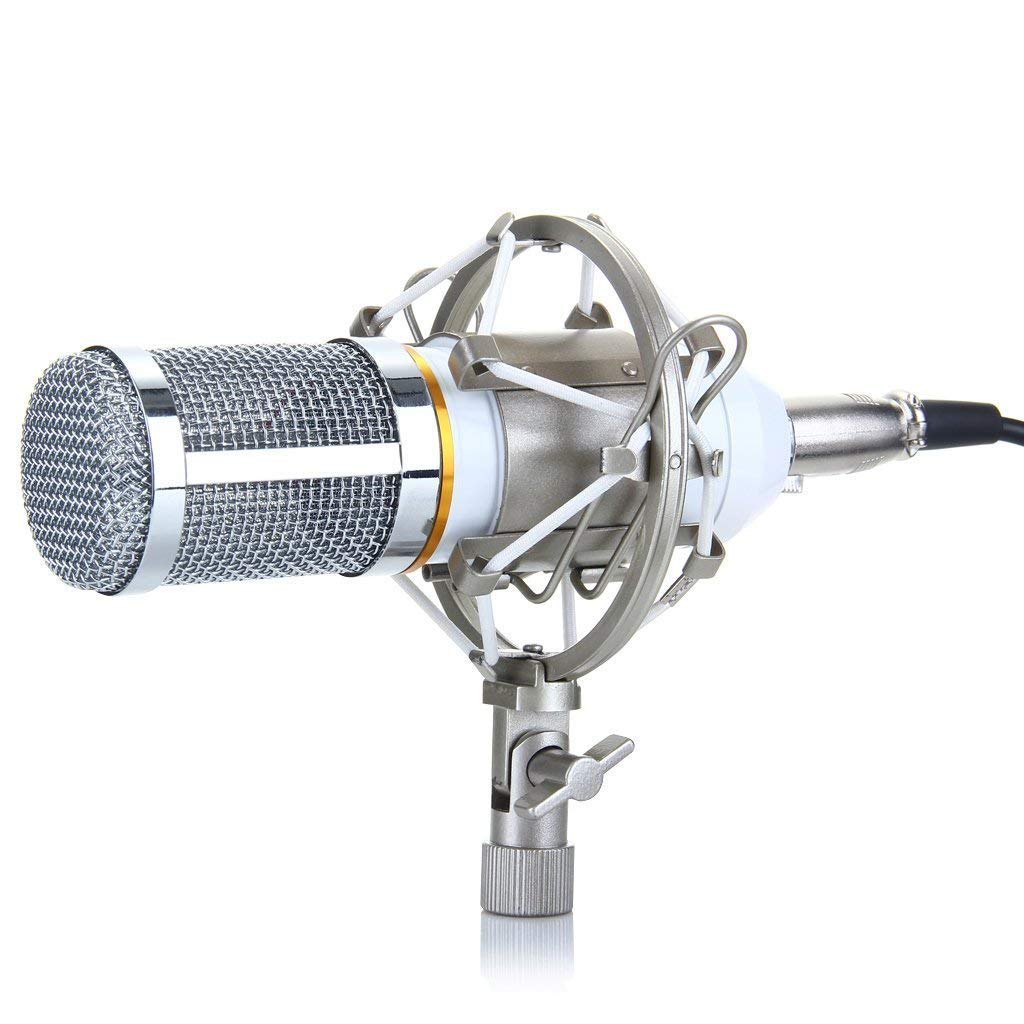 YSINOBEAR BM-800 Cardioid Condenser Sound Studio Recording Microphone Mic with Shock Mount for Studio Recording