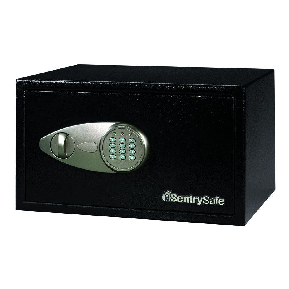 1 cu. ft. Steel Security Safe with Electronic Lock, Black