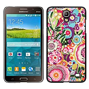 EJOY---Cubierta de la caja de protección para la piel dura ** Samsung Galaxy Mega 2 ** --Verano Flores de primavera Rosa Amarillo