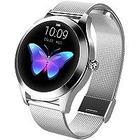 Smart Watch pour Femme, Fulltime® IP68 étanche Sport Montre Connectée moniteur Cardiofréquencemètre Bracelet pour Android IOS (argent)