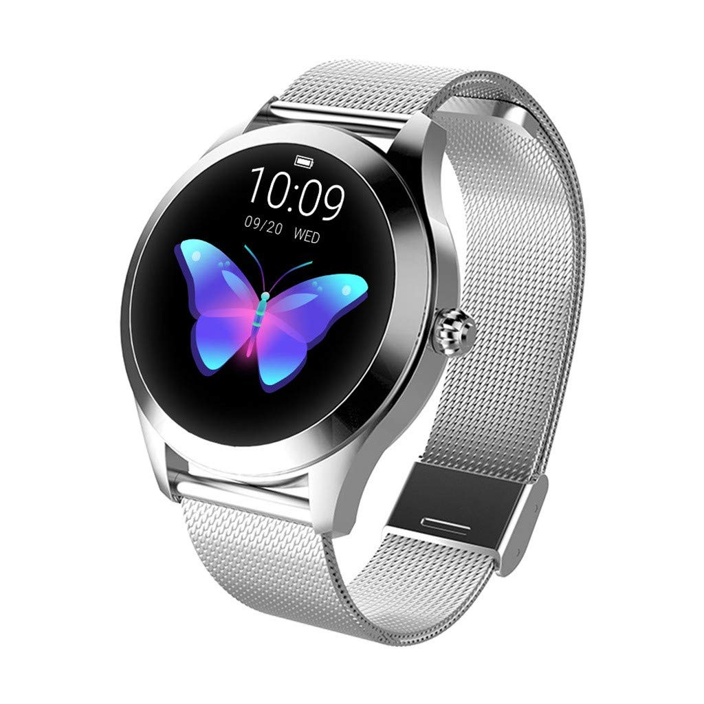 Best Gift !! Luxury Women KW10 Smart Watch IP68 Waterproof Heart Rate Monitoring Bracelet Fitness Tracker Pedometer Compatible Android Samsung iOS - Under 50 Dollars