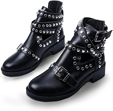 SamojoyBlvd. Punk Combat Ankle Boots
