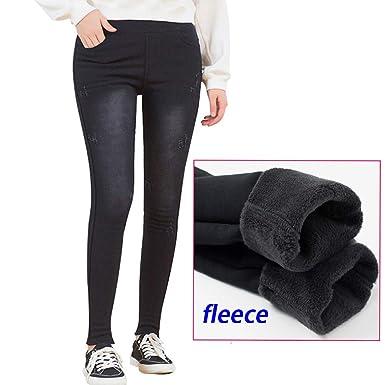 latest selection watch amazon Yehopere Winter Women Jeggings Skinny Pants Fleece Lined ...