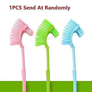 Engrosamiento Plus mango largo cepillo para inodoro baño suelo cepillo de limpieza cepillo color al azar