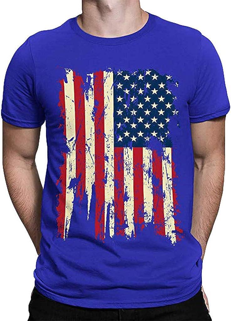 YOMXL - Camiseta de Manga Corta para Hombre, diseño de Bandera Estadounidense XXX-Large: Amazon.es: Ropa y accesorios
