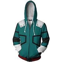 NoveltyBoy Boku No Hero Academia My Hero Academia Izuku Midoriya Hoodies Jacket Green Sweatshirt Cosplay Costume