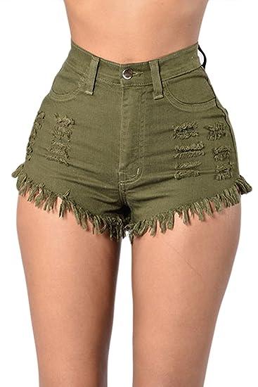 Nimpansa La Mujer Casual Skinny Cortar Pantalones Vaqueros ...