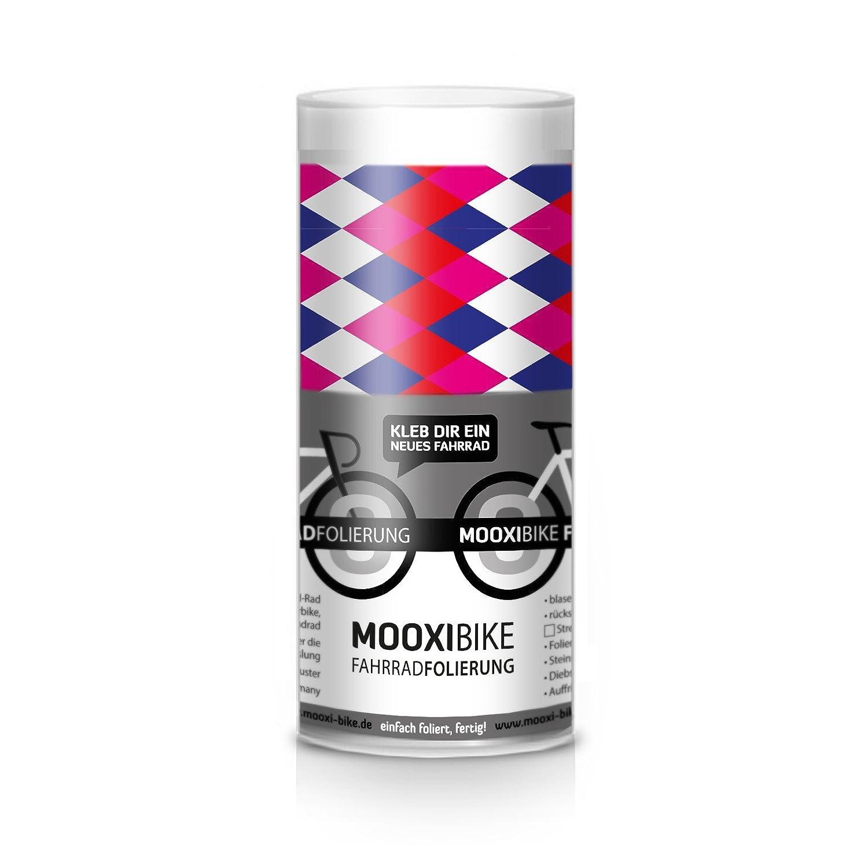 Bunte Rauten ausreichend f/ür Teilbereiche MOOXI-Bike Fahrrad-Folie Harlequin Heights