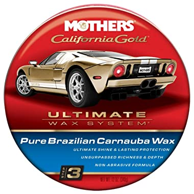 Mothers 05550 California Gold Pure Brazilian Carnauba Wax Paste (Ultimate Wax System, Step 3) - 12 oz.