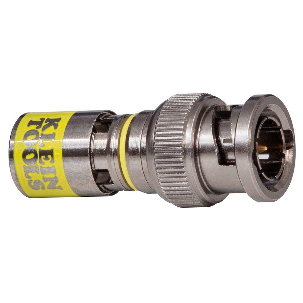 Klein Tools VDV813-613 Universal BNC Compression Connectors RG6-R6Q 35-Pack
