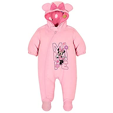 5c23f1b66 Amazon.com: Minnie Mouse Infant Girls Hooded Snowsuit (18-24Mos ...