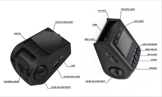 Covert Versatile Mini Video Camera 170/° Super Wide Angle 6G Lens Black Box B40 A118 Stealth Dash Cam 140/°F Heat Resistant Full HD 1080P Car DVR G-Sensor WDR Night Vision Motion Detection BLACKBOX NETWORK SERVICE B40-Stealth