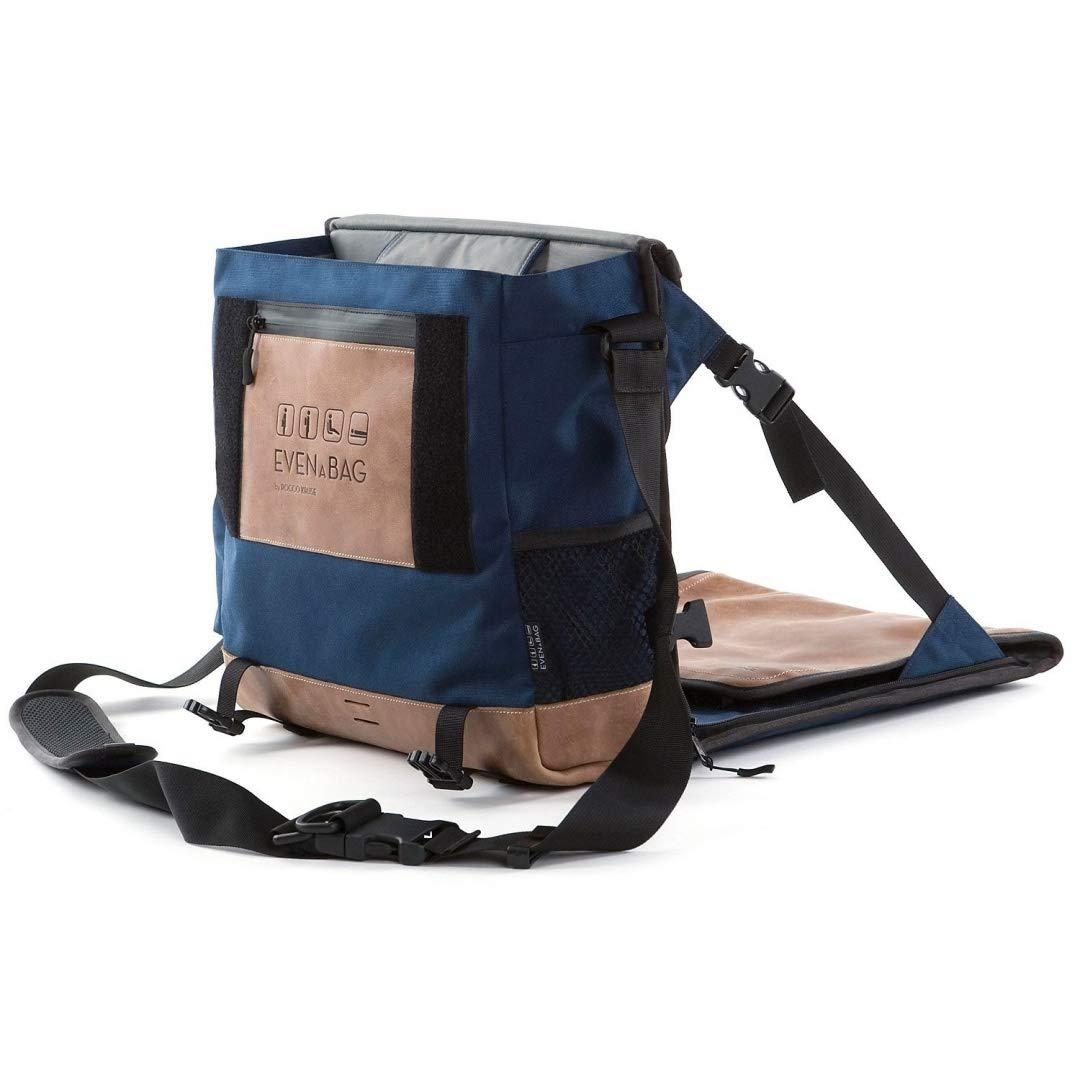 Laptoptasche kompatibel bis 15 Zoll EVENaBAG Umh/ängetasche mit Campingsitz Echtleder Schultertasche f/ür Herren /& Damen Picknickmatte /& Wickeltasche in Blau