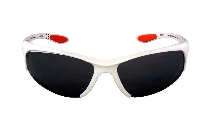 Foster Grant STRONG IRONMAN FG57 Hombre estilo Wrap gafas de sol de plástico blanco marco y