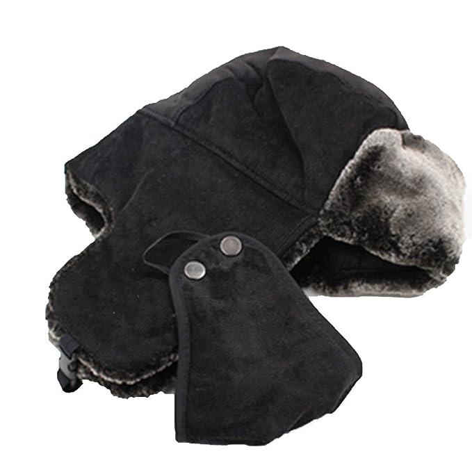 Aleta De Oreja De Invierno Unisex Sombrero De Bombardero Caliente Para Mujer Sombrero De Esquí Máscara De Viento Sombreros De Caza, Black-L: Amazon.es: Ropa ...