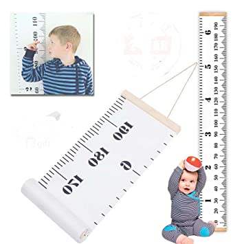 Amazon Metric Growth Chart For Kidsbaby Height Wall Hanging