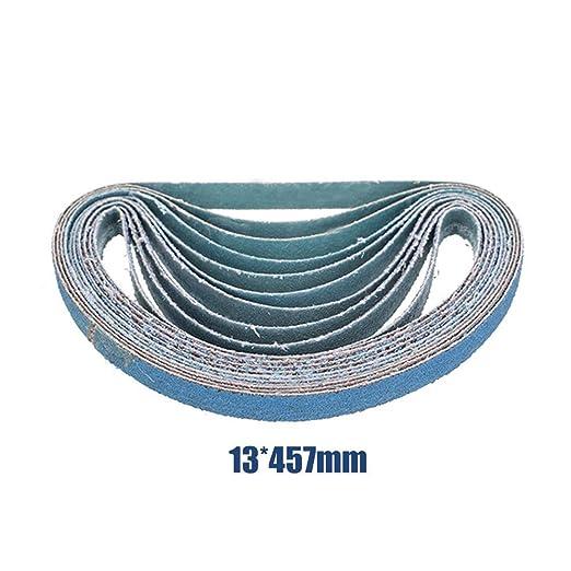 Cinturones de lija MASO Power Tool lijadora abrasiva azul bandas de lijado de metal para lijadora de herramientas el/éctricas Paquete de 10 unidades