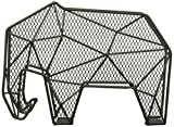 Kikkerland Black Wire Bear Letter Paper Desk Tidy Office Organizer