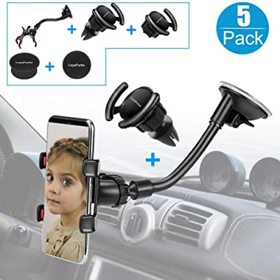 Car Phone Mount, LoyaForba Universal Phone Holder For Car Cell Phone, 360 Degrees Dashboard Desk Wall Bracket for GPS Navigation and Any Smartphone: Beauty