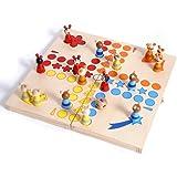 Small Foot by Legler Ludo für die ganze Familie in originellem Tier-Design, mit kleinen Tierchen als Spielfiguren, zusammenklappbares Spielbrett