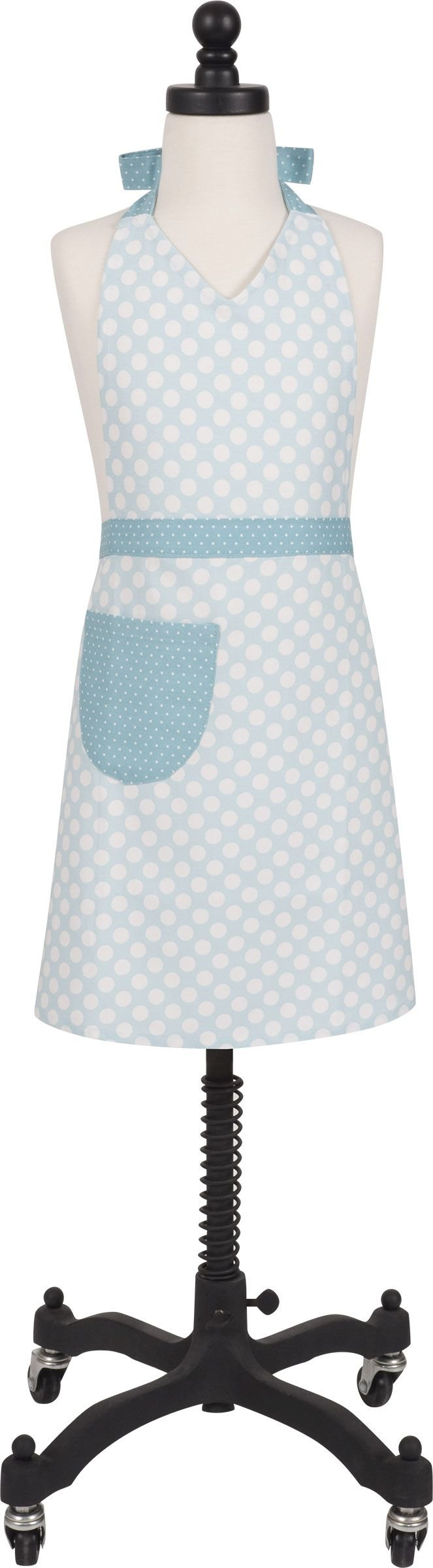 Handstand Kitchen Girl's Pretty Print 100% Cotton Apron with Patch Pocket (Pretty Polka Dots)