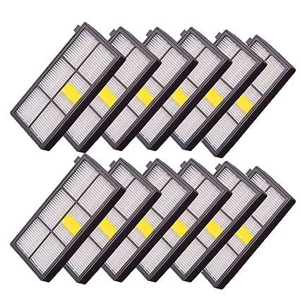 Laileya 12PCS / Set de piezas de repuesto para aspiradoras HEPA Juego de filtro para iRobot