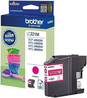 Brother Original Brother Mfc J 480 Dw Lc221m Tintenpatrone Magenta 260 Seiten 3 9ml Bürobedarf Schreibwaren