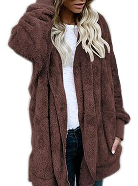 Winter Sanyouletoo Plüsch Herbst Fur Damen Faux Jacke Mantel yvn0OPmwN8