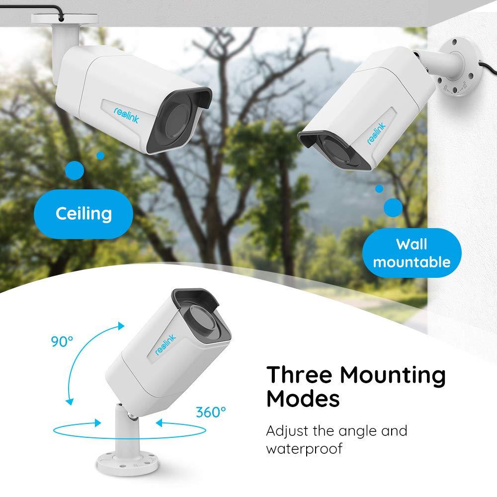 Cámara de Seguridad 5MP Reolink PoE 4X Zoom óptico IP66 Impermeable y con Ranura para Tarjeta Micro SD incorporada para Grabación de Video con detección de ...