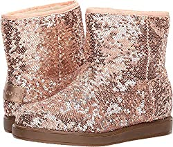 Women's Sequined Faux Fur Casual Boots
