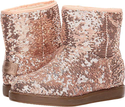 G By Guess Womens Asella Closed Toe Ankle Fashion Boots, Pink Sequins, Size 7.5