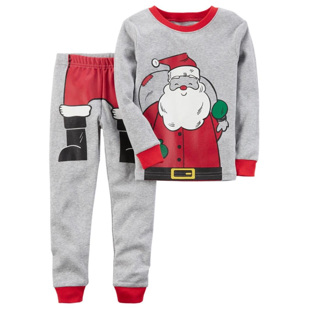 Kids Clothing Sets, SetMei Kids Baby Boys Girls Christmas Santa Claus Tops Shirt Pants Outfits Set Clothes For 0-6 Years old