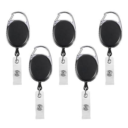 amazon com retractable badge holders carabiner reel clips on work