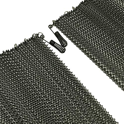 Fireplace Replacement Black Hanging Mesh Curtain Screens Two (2) Panels 20