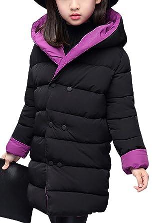 Chaquetas Nieve de Invierno Con Capucha Abrigos Ropa Para Niñas Desgaste de doble-cara Púrpura 160: Amazon.es: Ropa y accesorios