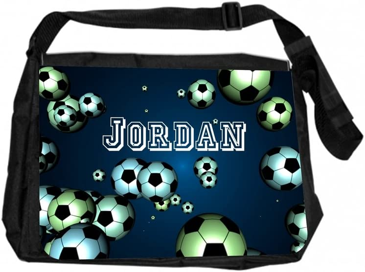 Jacks Outlet TM Customizable Laptop Messenger Bag Soccer Balls