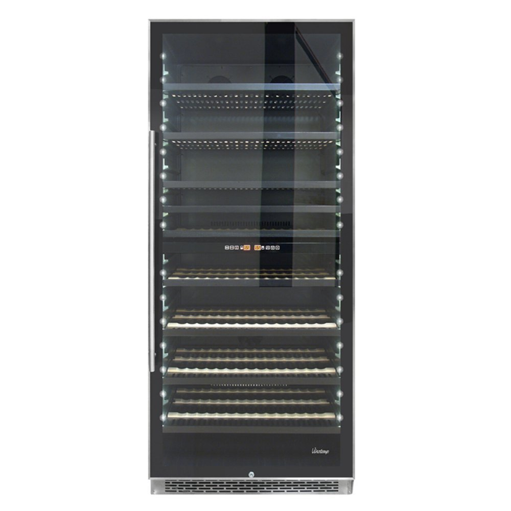 Vinotemp 300-Bottle Dual-Zone Wine Cooler