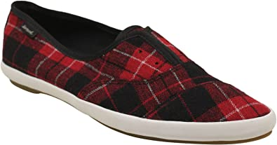 7abcf8037d2 Image Unavailable. Image not available for. Color  Sanuk Kat Paw TX Slip ONS  Red Plaid Womens 7