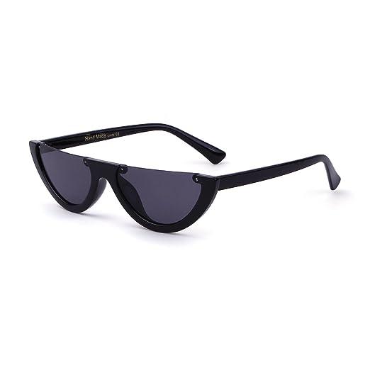 f5610ed5de2 Image Unavailable. Image not available for. Color  Clout Goggles Cat Eye  Sunglasses Vintage Mod Style Retro Kurt Cobain Sunglasses