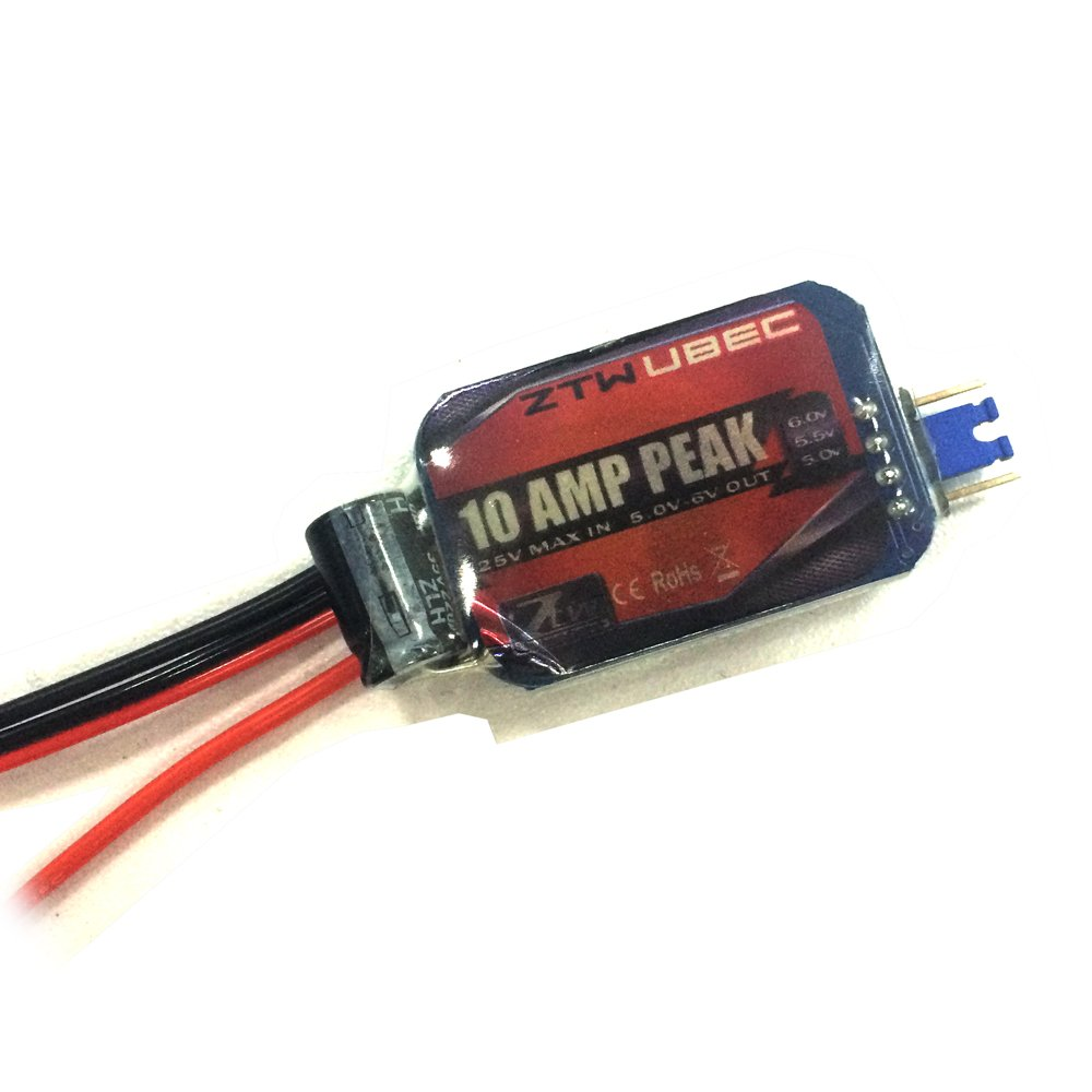 ZTW UBEC 10A Peak Continuous 6A 6.0V 5.5V.5.0V Adjustable for rc Airplane and Helicopter