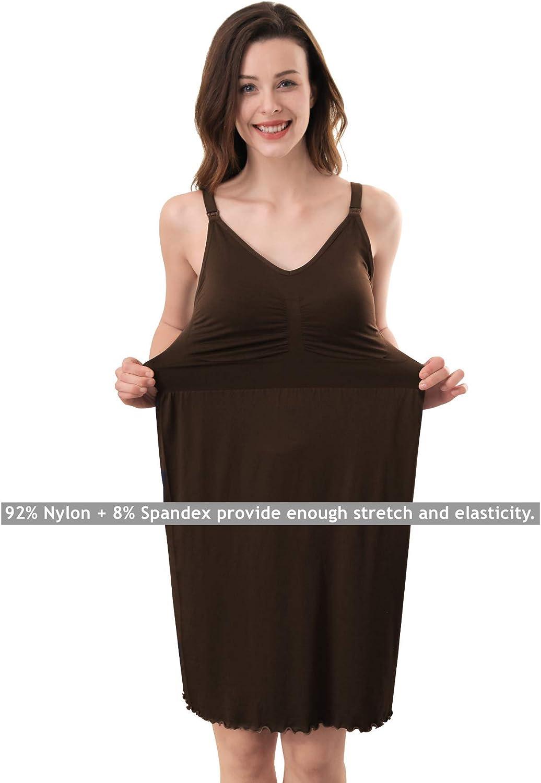 iLoveSIA Womens Seamless Maternity Nursing Dress Built in Bra Nightdress for Breastfeeding Size S M L XL 2XL 3XL