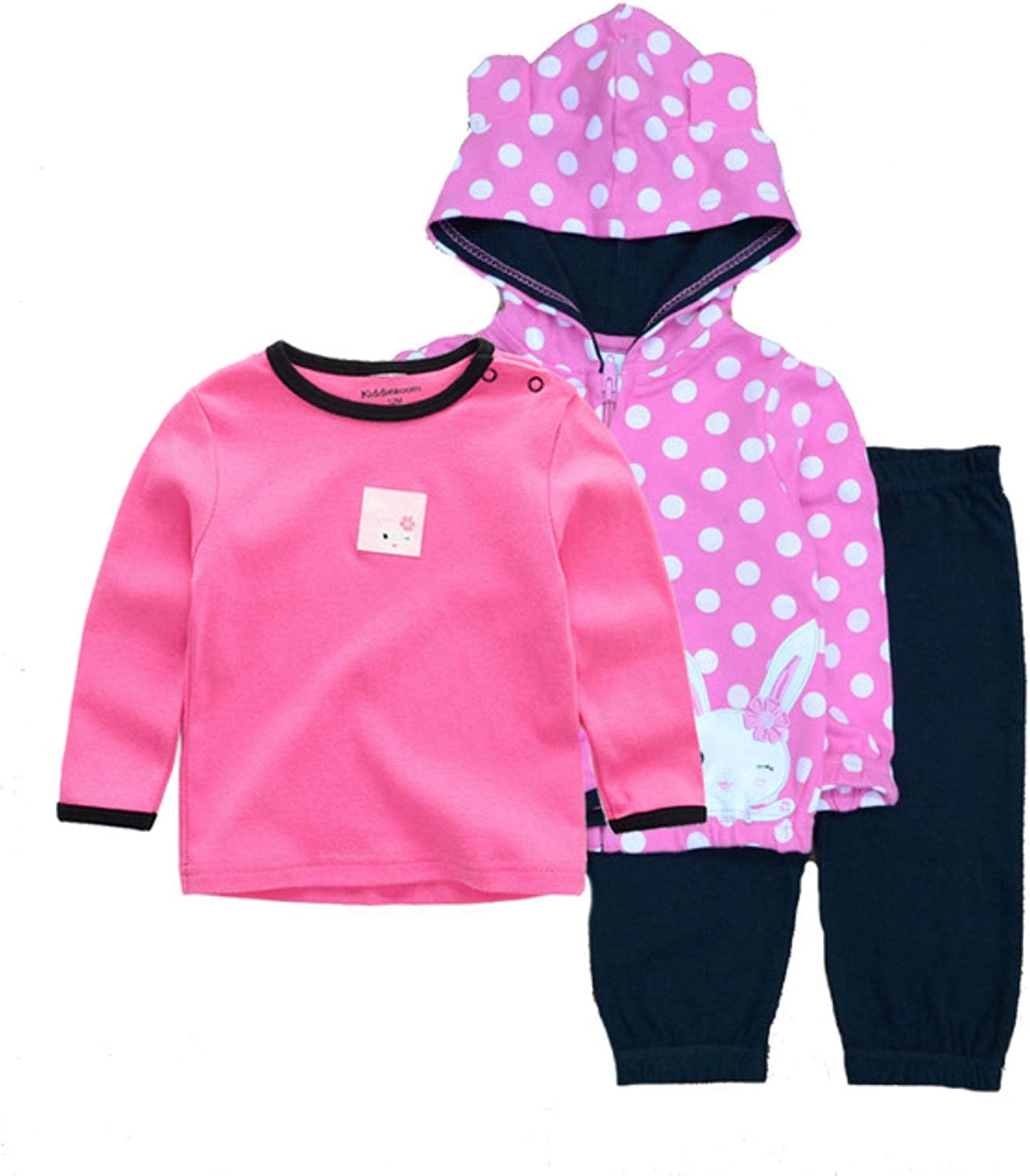 2020 Winter Baby Clothing Set 3PCS Hoodie+T-Shirt+Pants Ropa Bebe 12-24months O-Neck Cotton Infant Costume Baby Boy Girl Clothes