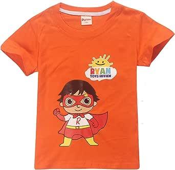 Dgfstm Ryans World YouTube Merch Ryan Toys Review Kids T Shirts Cartoon Tees