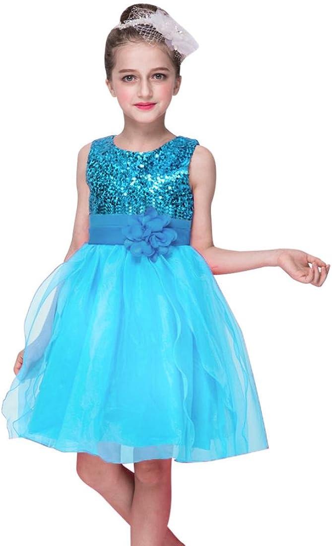 Huhu833 Baby Kleid Kleinkind Baby M/ädchen Bling Pailletten Sleeveless Tutu Prinzessin Kleid Outfits Kleidung