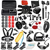 VanteexPro 68-in-1 Sports Accessories Kit for Gopro Hero 6 5 4 3+ 3 2 1, Action Camera Accessories for AKASO EK7000/ SJCAM/ DBPOWER/ APEMAN/ Lightdow/ Xiaomi Yi