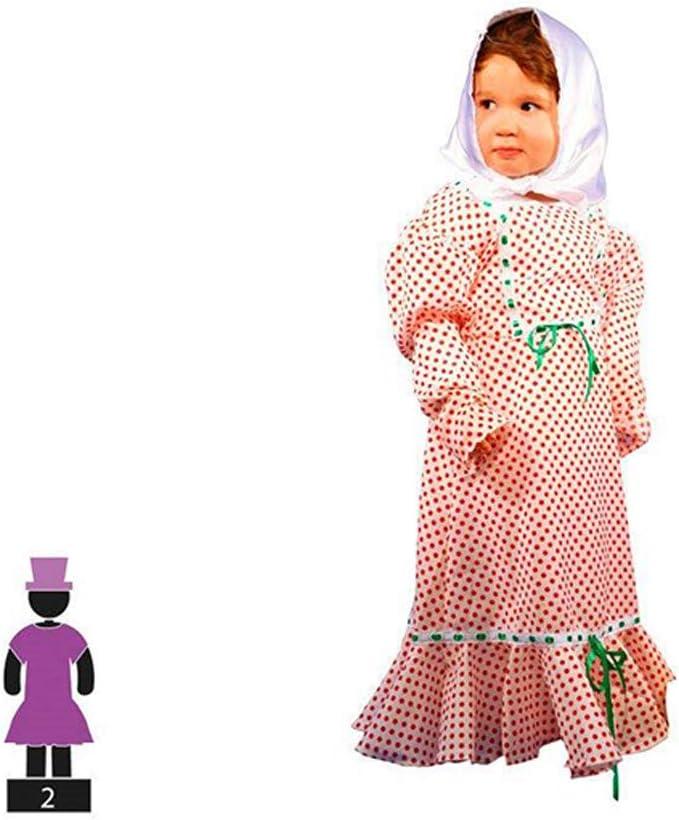 Cisne 2013, S.L. Disfraz de 2 Piezas para Carnaval Infantil niña de Chulapa Madrileña Color Rojo y Blanco Talla 3-4 años de niño y niña. Cosplay niña Carnaval.: Amazon.es: Hogar