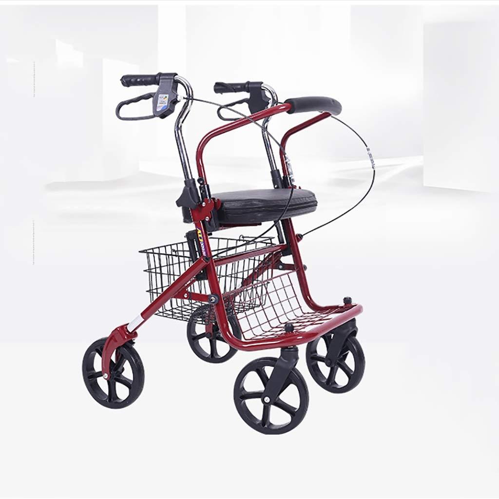 若者の大愛商品 高齢者のための座席そして安全ハンドブレーキが付いている折る買物車の歩行者、高さ調節可能な手すりおよび対面あと振れ止めの取付けが付いている医学の四輪駆動車を運転して下さい :、 (色 : 赤) 赤 赤 赤) B07QSJ1YPL, 健康美容用品専門店Frontrunner:a966d5f3 --- a0267596.xsph.ru