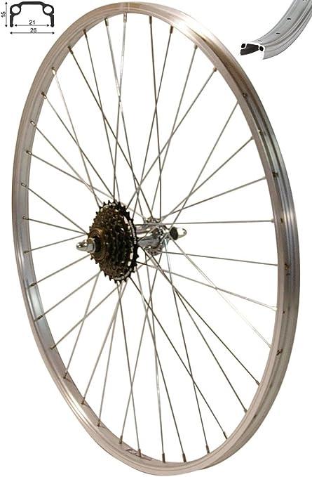 8 Fach Shimano Kassette Redondo 26 Zoll Hinterrad Laufrad VProfil Felge Silber